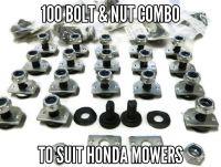 Bolt & nut set x 100 to suit Honda mowers