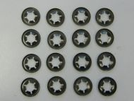 16 x Mower Wheel Clips retainers