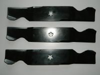 "3 x 54"" CUT BLADES FOR HUSQVARNA CRAFTSMAN & POULAN RIDE ON MOWERS 532 18 72 56"