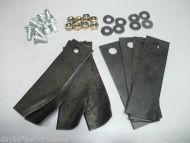 """HONDA 21"""" Blades and Bolts x 4 pair high and low lift"""