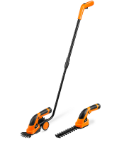 3 in 1 Cordless 7.2v Lithium Ion Grass Shears Hedge Trimmer Handheld & Wheeled & Extension Handle