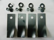 BLADE KIT FOR ROVER MOWERS x 4 BLADES AND BOLTS