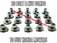 Bolt & nut set x 20 to suit Honda mowers