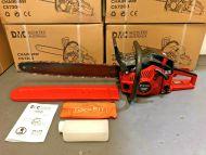 "72cc Petrol Commercial Chainsaw 22"" Bar Chain Saw Tool Kit E-Start Bar Cover"