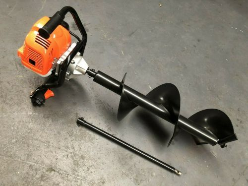 62cc Post Hole Digger Petrol Post hole Earth Auger Fence Borer Drill Posthole